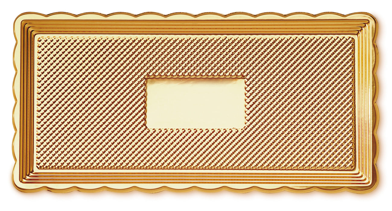 Rectangular Medoro Pastry Tray great for pastries, sandwiches, cakes, cupcakes, appetizers, hors d'oeuvres, cookies, brownies, sushi, savory items, and other edible food products. Wholesale food protection for bakery and restaurants.