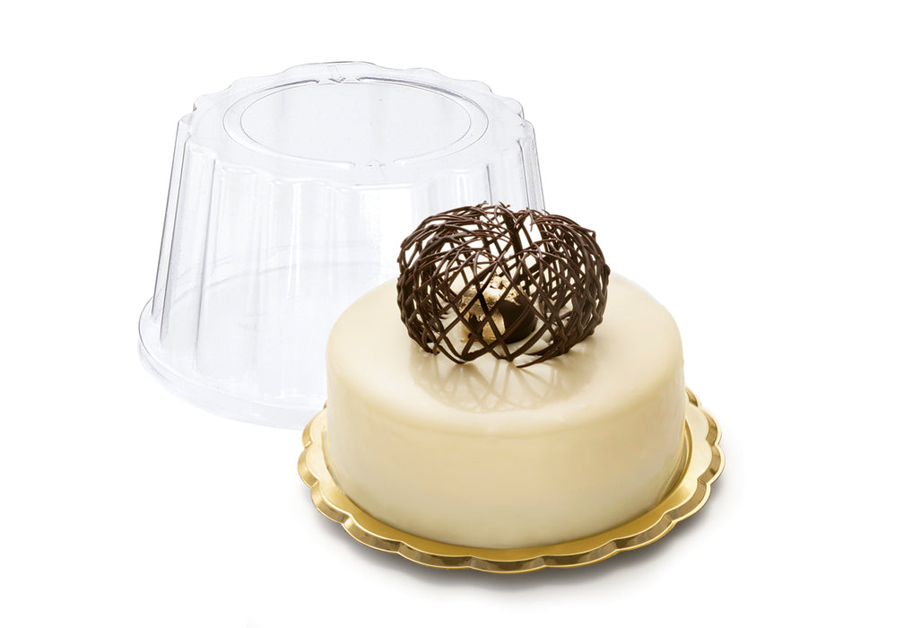 Gold Mini Medoro Trays great for pastries, sandwiches, cakes, cupcakes, appetizers, hors d'oeuvres, cookies, brownies, sushi, savory items, and other edible food products. Wholesale food protection for bakery and restaurants.