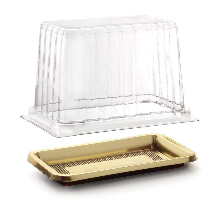 Medoro Pastry Tray Lids great for pastries, sandwiches, cakes, cupcakes, appetizers, hors d'oeuvres, cookies, brownies, sushi, savory items, and other edible food products. Wholesale food protection for bakery and restaurants.