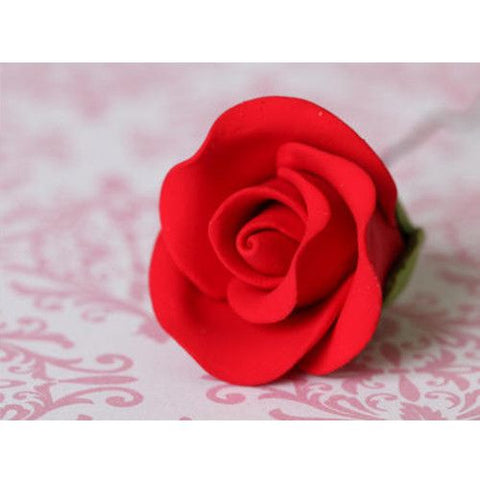 Small Tea Roses - Red