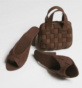 Brown Purse and Sandal Set