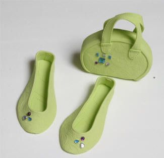 Apple Green Purse and Sandals Set