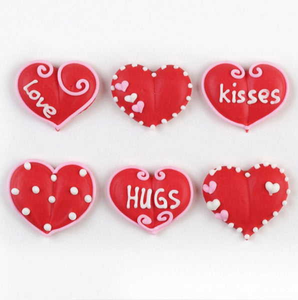Valentine Heart Royal Icing Decorations