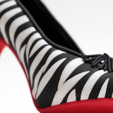Black & White Zebra Print Fondant Heel cake topper perfect for cake decorating fondant cakes & brides cakes. Caljava