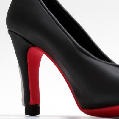 Black Heel fondant cake topper perfect for cake decorating fondant cakes & brides cakes. Caljava