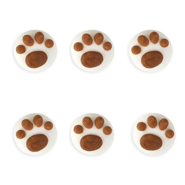 Mini Paw Royal Icing Decorations (Bulk) - Assortment