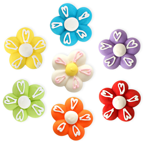 Royal Icing Toppers great for decorating cupcakes, cookies, cakes, candy and chocolates.