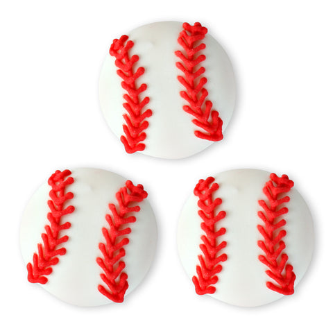 Baseball Royal Icing Toppers great for decorating cupcakes, cookies, cakes, candy and chocolates.