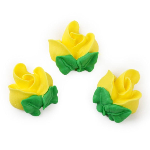 Rosebud Royal Icing Decorations - Yellow
