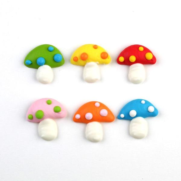 Toadstool Royal Icing Decorations (Bulk)