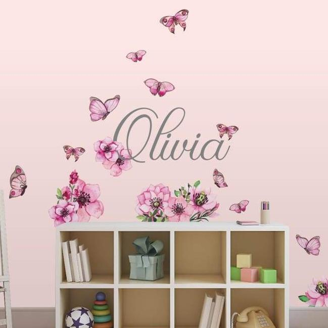 Butterfly wall art nursery decor kids peel and stick wallpaper stickers picture perfect decals
