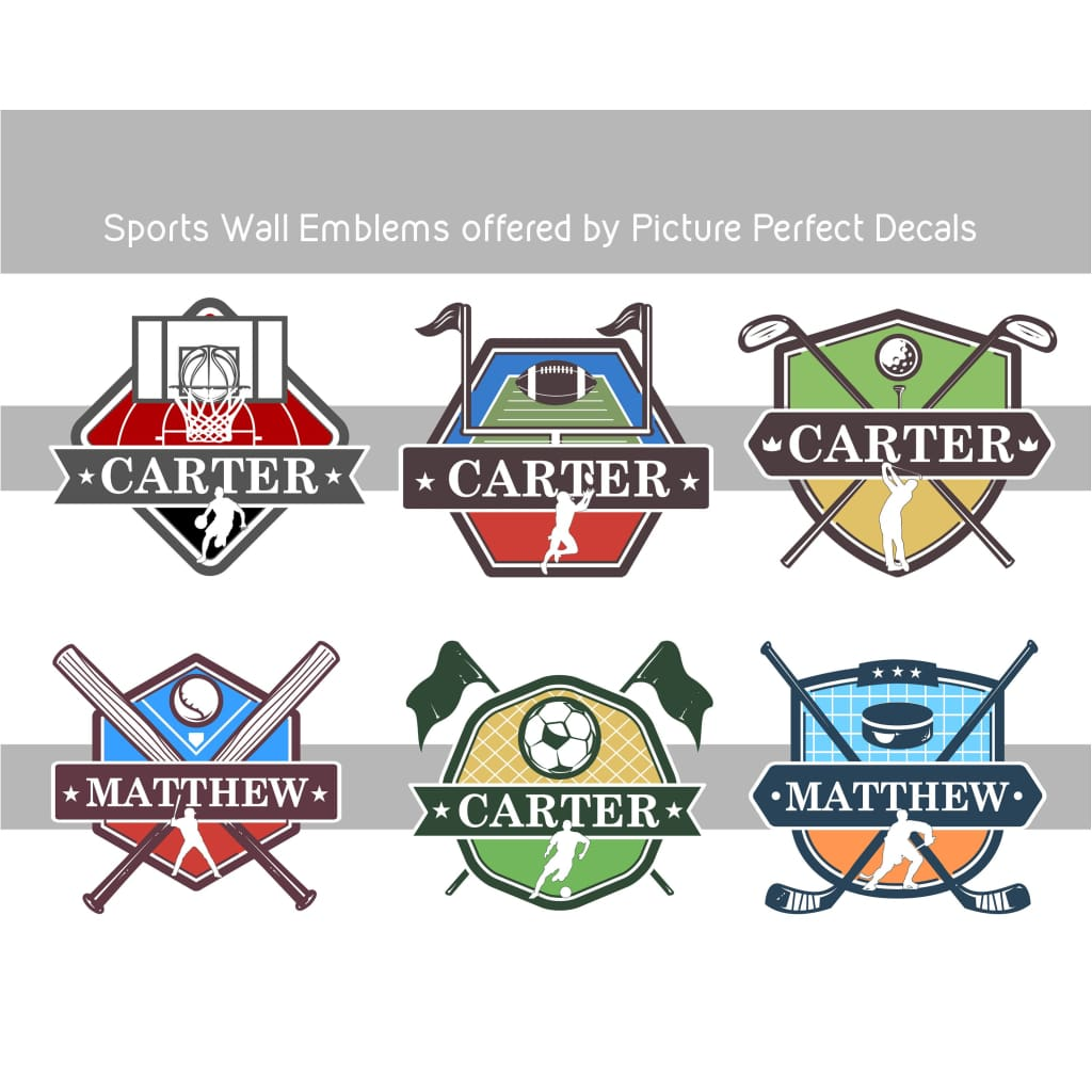 Multiple Color Selections Number and Team Name Baseball Decal with Name