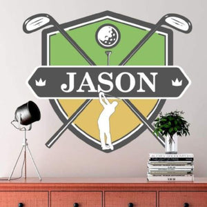 Custom Golf Wall Decal Custom Removable Wallpaper Sticker Design With Your Name And Team Colors