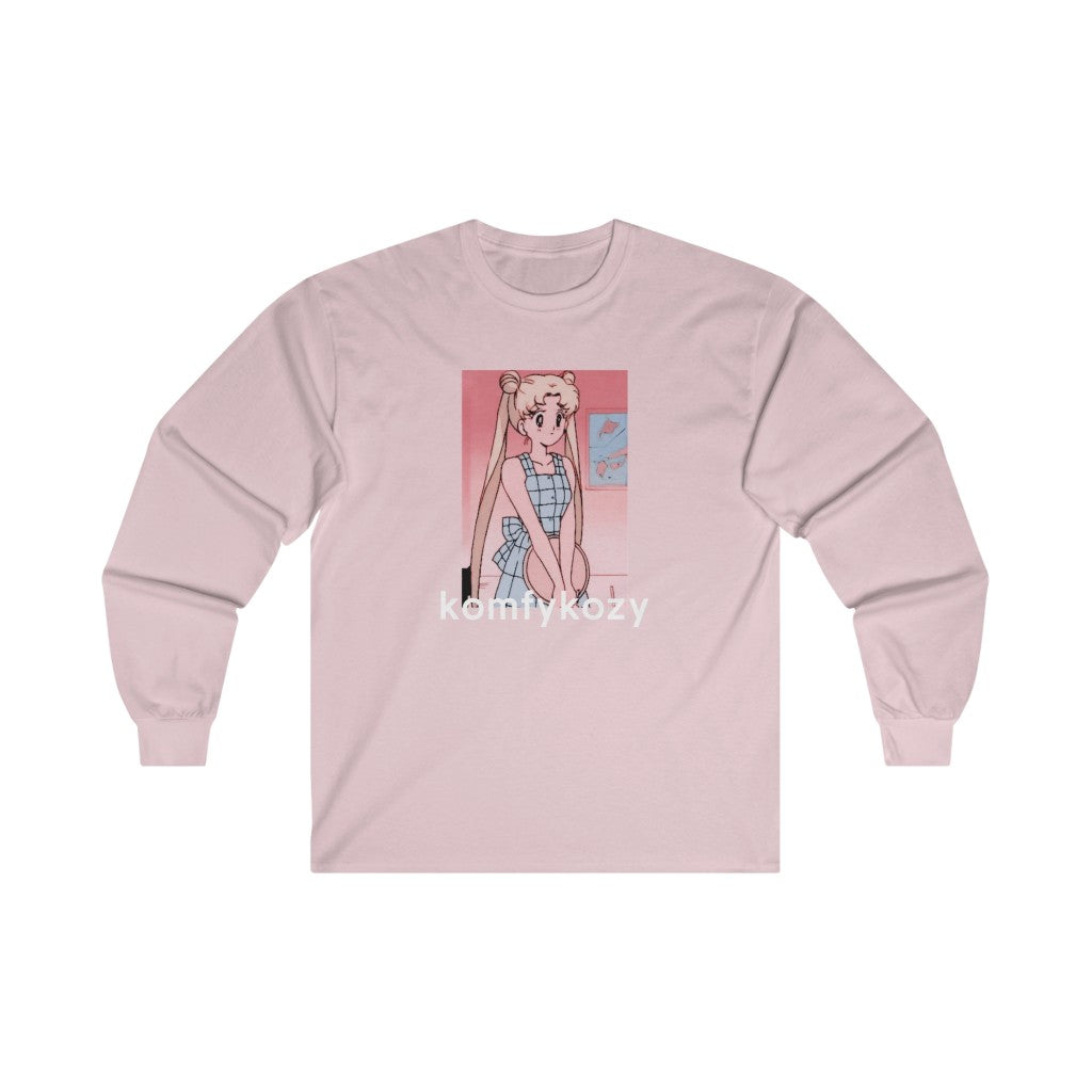 to the moon and back long sleeve t shirt (light pink)