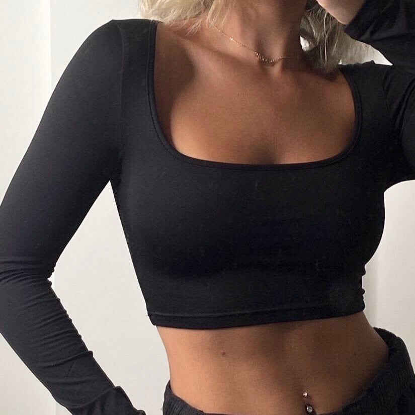 second skin crop top (black)