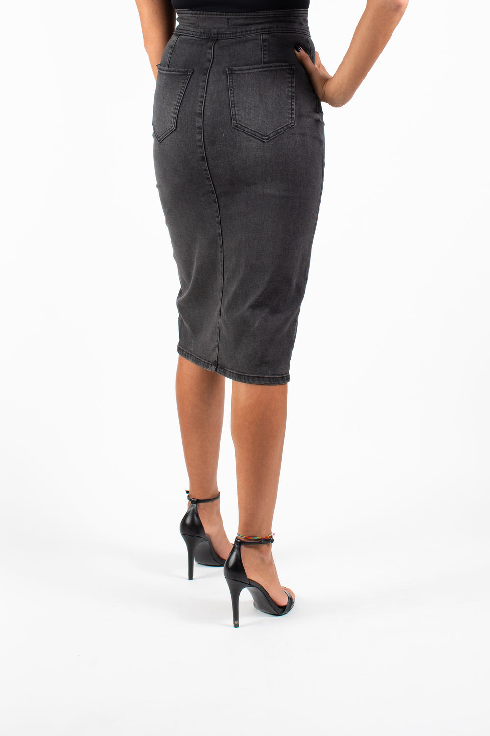Black Night Denim Skirt