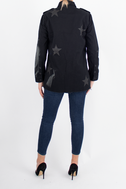 Camilo Metallic Star Print Camilo Jacket