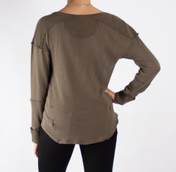 Military Mix Henley