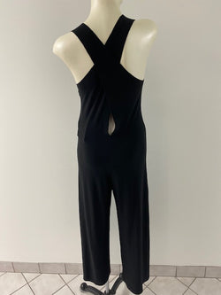 Cross Back Cropped Jumpsuit