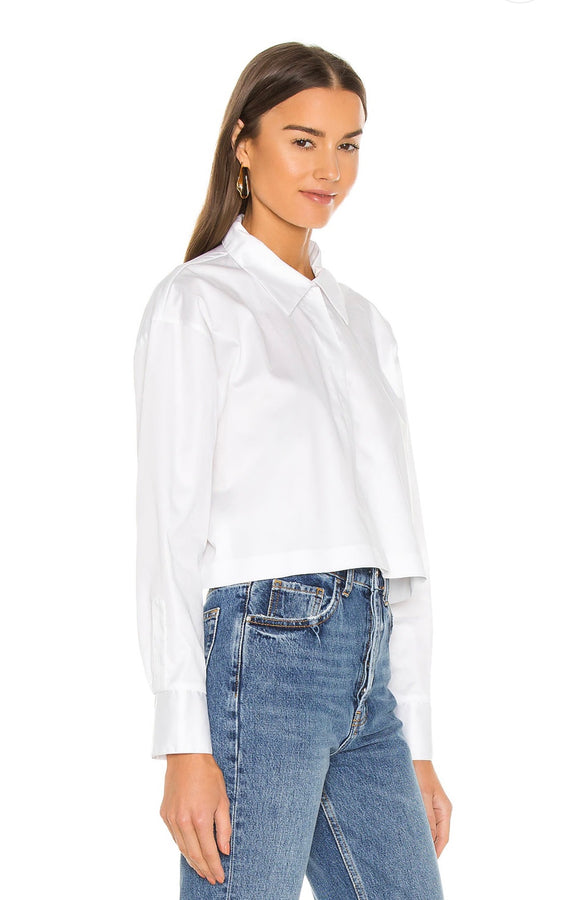 Cropped Boyfriend Shirt