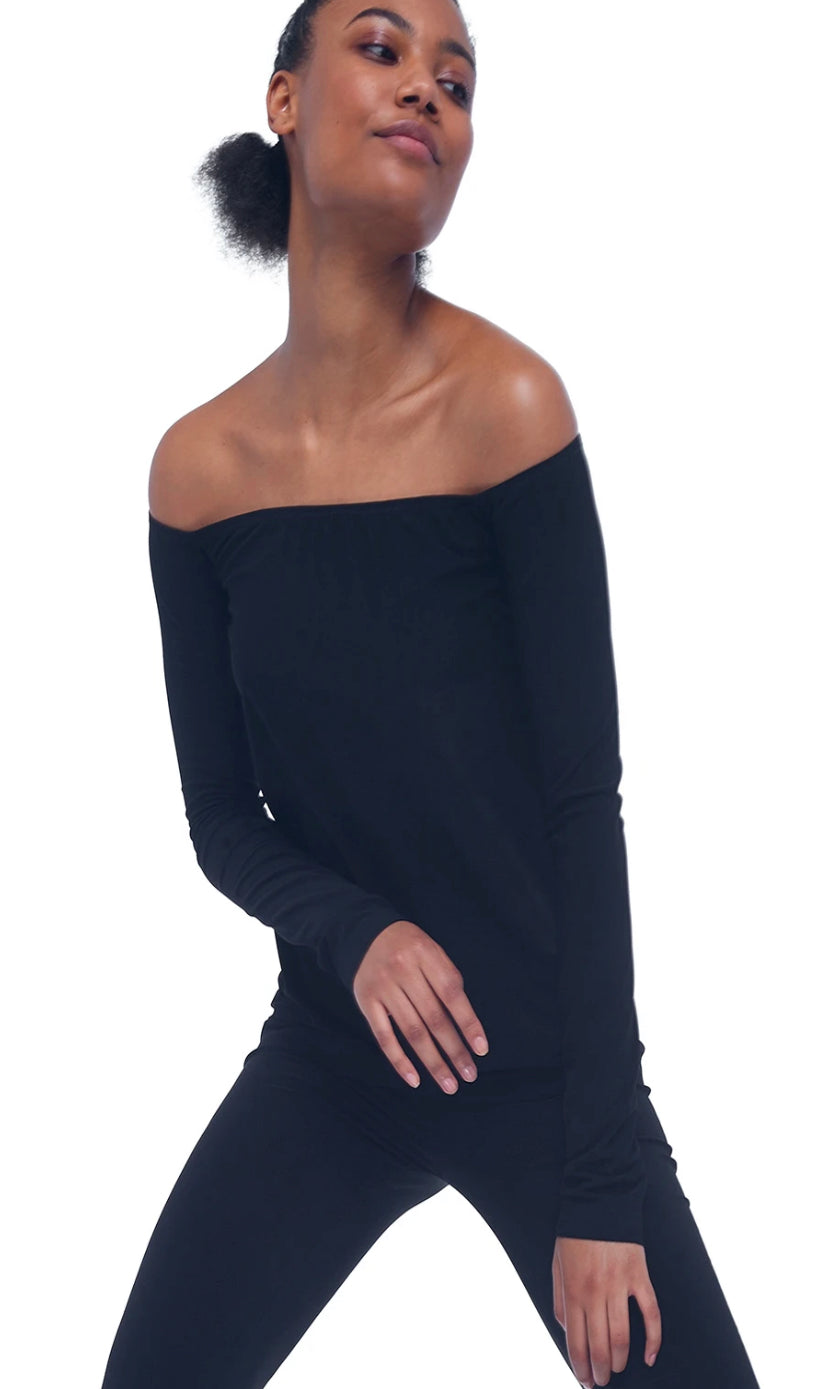 Long Sleeve Off The Shoulder Top