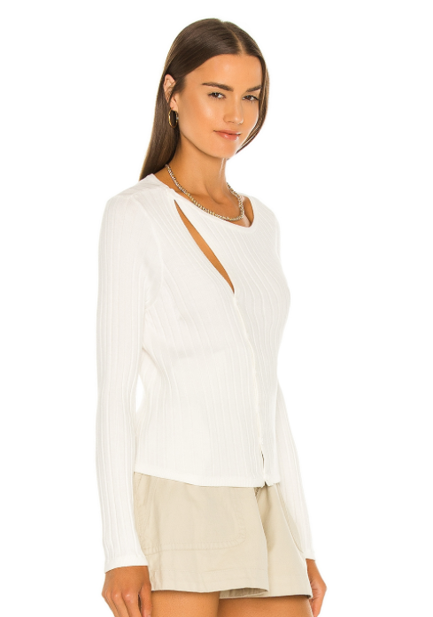 Madison Asymmetrical Ribbed Top
