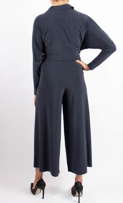 Cropped Straight Leg Jumpsuit