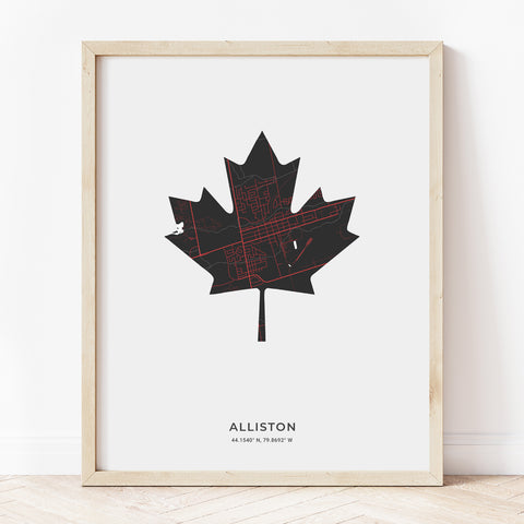 Alliston Maple Leaf Print