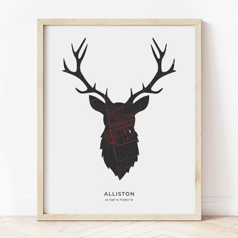Alliston Stag Print