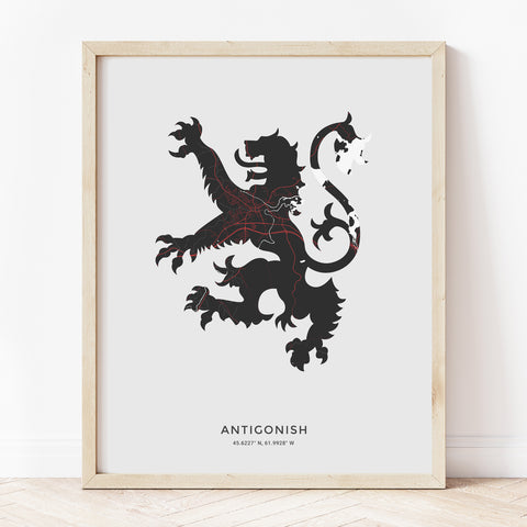 Antigonish Lion Rampant Print