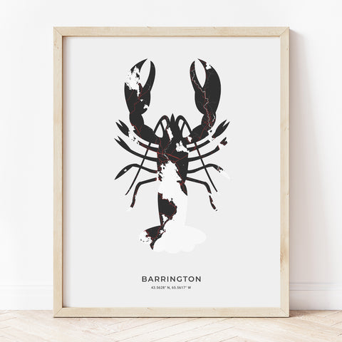 Barrington Lobster Print