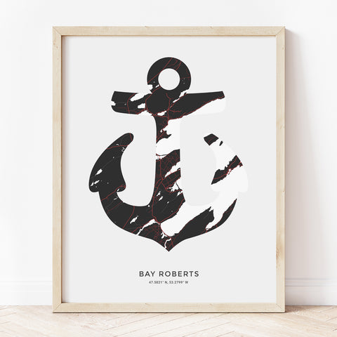 Bay Roberts Anchor Print