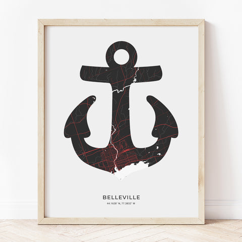 Belleville Anchor Print
