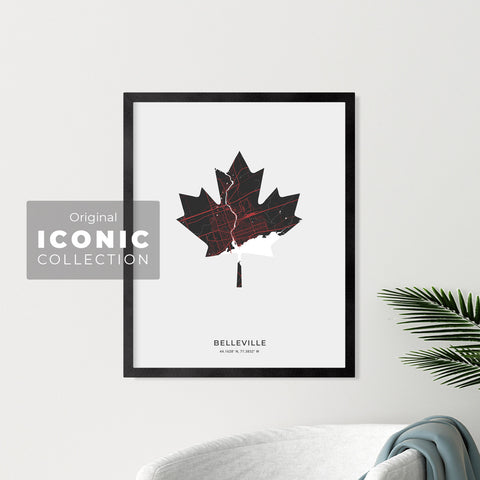 Belleville Maple Leaf Print