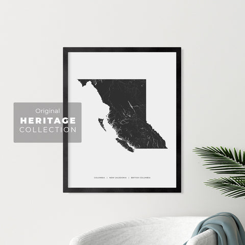 British Columbia Heritage Map Print