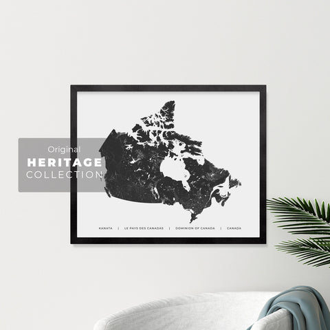 Canadian Heritage Map Print