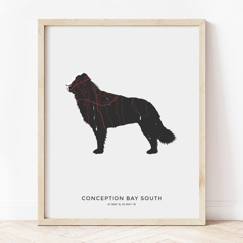Conception Bay South NFLD Dog Print