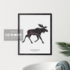 Edmundston Moose Print