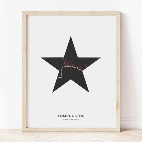 Edmundston Acadian Star Print