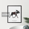Fort Mcmurray Moose Print