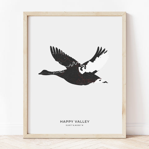 Happy Valley-Goose Bay Canada Goose Print