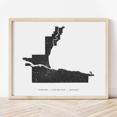 Kamloops Heritage Map Print