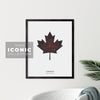 London Maple Leaf Print