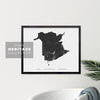 New Brunswick Map - Heritage Print