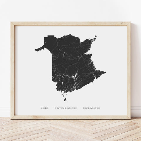 New Brunswick Heritage Map Print