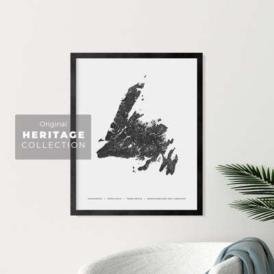Newfoundland and Labrador Heritage Map Print