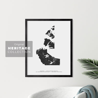 Northwest Territories Map - Heritage Print
