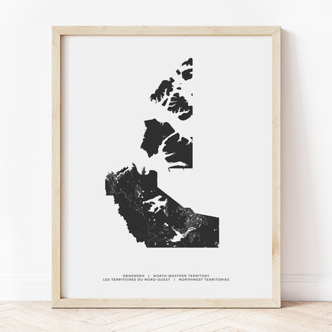 Northwest Territories Heritage Map Print