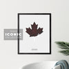 Oshawa Maple Leaf Print