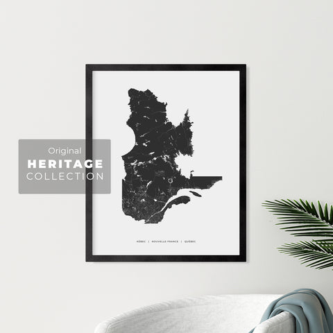 Quebec Heritage Map Print